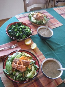 Salmon Salad Table